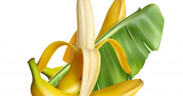 realistic-banana-with-editable-text-realistic-images-banana-fruits-with-skin-leaves_1284-29397